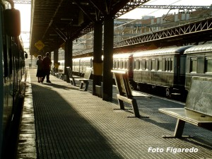 Antigua estación de El Humedal. Foto Figaredo, Gijón
