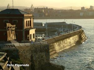 Punta Lequerica. Foto Figaredo, Gijón