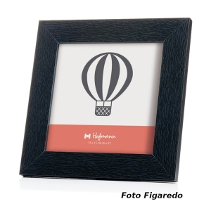 marco madera negra 15x15. Foto Figaredo, Gijón
