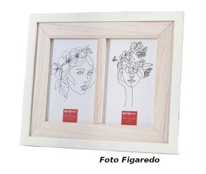 marco para dos fotos. Foto Figaredo, Gijón