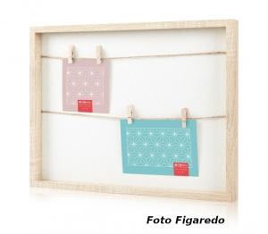 marco con cuerdas y pinzas. Foto Figaredo, Gijón