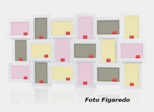 marco blanco para 18 fotos. Foto Figaredo, Gijón