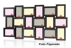 marco negro para 18 fotos. Foto Figaredo, Gijón