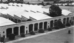 Vista parcial de los talleres de la Laboral en Gijón